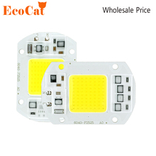 Buy ECO Cat COB LED Lamp Bulb 100W 50W 30W 20W 220V Input LED Chip Smart IC Fit Driver LED lamp LED Floodlight Spotlight for $1.38 in AliExpress store