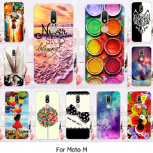 TAOYUNXI Hard Plastic Phone Case For Motorola Moto M XT1662 Cellphone Cover Case 5.5inch Colorful Sky Shell Back Skin Bag(China)
