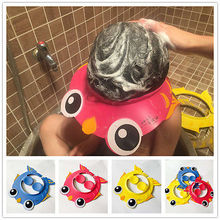 New Cartoon Cute Adjustable Kids Baby Washing Hair Shield Shower Hat Shampoo Bath Bathing Cap(China)
