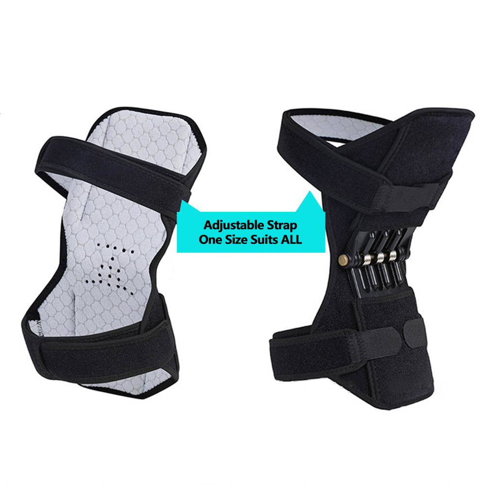 Brace - Knee Protection Booster Power Support Knee Pads Powerful Rebound Spring Force Sports Reduces Soreness Leg Protection