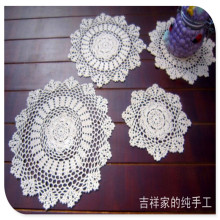 free shipping 20-38cm 12 pic/lot cotton crochet lace doilies for home decor felt for wedding cup pads placemat  napkin mat felt