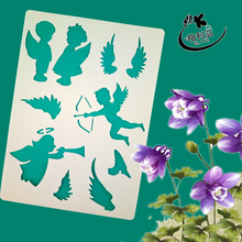 Cute baby angels Layering Stencils for DIY Scrapbooking/photo album Decorative Embossing DIY Paper Cards Crafts