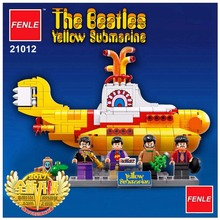 LEPIN Ideas The beatles Yellow Submarine Drag Racer Car Building Blocks Bricks Model Kids Toys Marvel Compatible with 21306(China)
