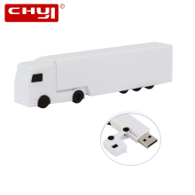 CHYI Creative White USB Flash Drive Pen Drive Big Truck Shaped Memory Stick Pendrive 4GB 8GB 16GB 32GB 64GB U Disk Hot Sale(China)