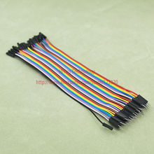 (4) Male 40p Female 20cm colors Jumper wire Dupont cable Line - jhiwor Store store