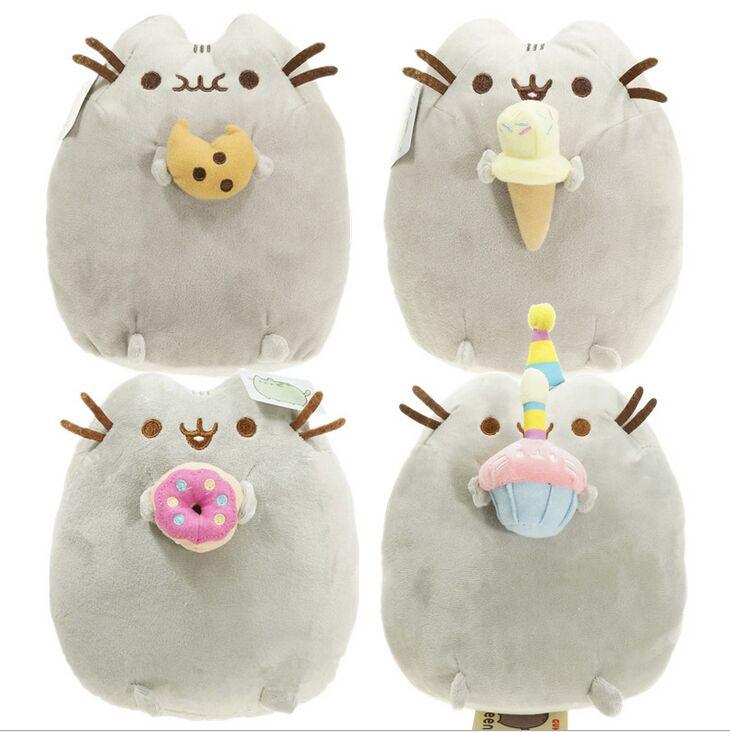 25cm Kawaii Brinquedos New 25cm Pusheen Cat Cookie &amp; Icecream &amp; Doughnut 4Styles Stuffed &amp; Plush Animals Toys for Girls<br><br>Aliexpress
