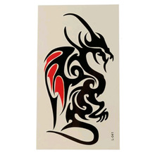 Best Promotion Fashion Painted Dragon Waterproof Nontoxic Temporary Tattoo Body Arm Leg Art Sticker Removable 10.5 x 6cm