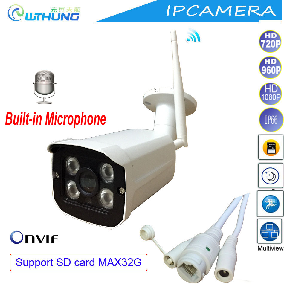 Wireless Wired CCTV IP Camera 720P 960P 1080P Support Microphone Onvif SD Card Max32G Motion Detector for Home Security Monitor<br>