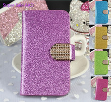New Luxury Wallet Flip PU leather Mobile Phone Bags Cases For Lenovo A858T A858 T Fashion Bling Cell case cover  Free Shipping
