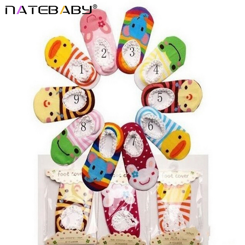 Hot Sale Multi Color Children Lace anti-slip Floor Socks Baby Comfortable Cotton Cartoon Boat Socks NA0227(China (Mainland))