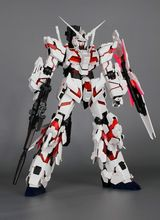DRAGON MOMOKO Gundam model PG 1/60 RX-0 Unicorn + LED Unit Mobile Suit kids toys