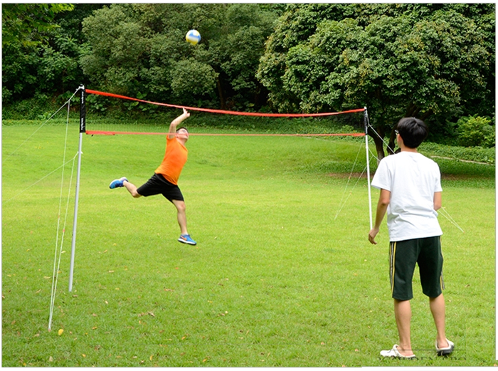 HTB1lySubHPx2eJjSZFBq6zmZVXaV - Sports 2 in 1 recreational badminto and volleyball combo set :net poles,ball,rackets &shuttlecock -portable euqipment for lawn