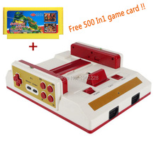 New Family TV Video Game Console With Wireless Gamepad Controller High Definition HDMI TV Out For 8bit games +500 in1 game card(China)