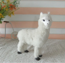 Lovely simulation alpaca toy / mini and vivid 16*15cm ideal children gift or home/car decor(China)