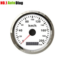 Top-Rated Car Truck Motor Auto GPS Speedometer 200 km/h Stainless steel waterproof Digital Gauges free shipping