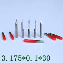 10PCS CNC cutter tools, PCB tungsten steel V-type computer engraving tools, CNC milling cutter 30 degrees 0.1mm machine parts(China)