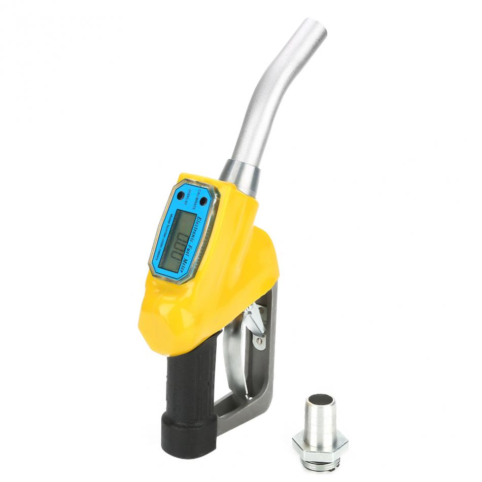 Manual Digital Fueling Nozzle with Flow Meter Wandisy Fuel Oil Diesel Kerosene Gasoline Nozzle