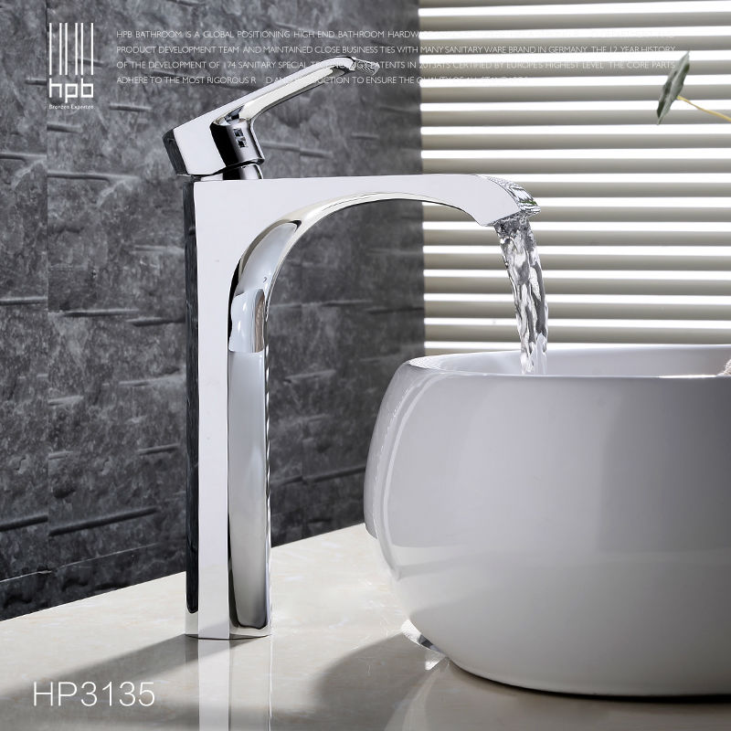 HPB High Quality Tall Deck Mounted Bathroom Basin Faucet Hot and Cold Water Single handle Mixer Tap torneira HP3135<br><br>Aliexpress