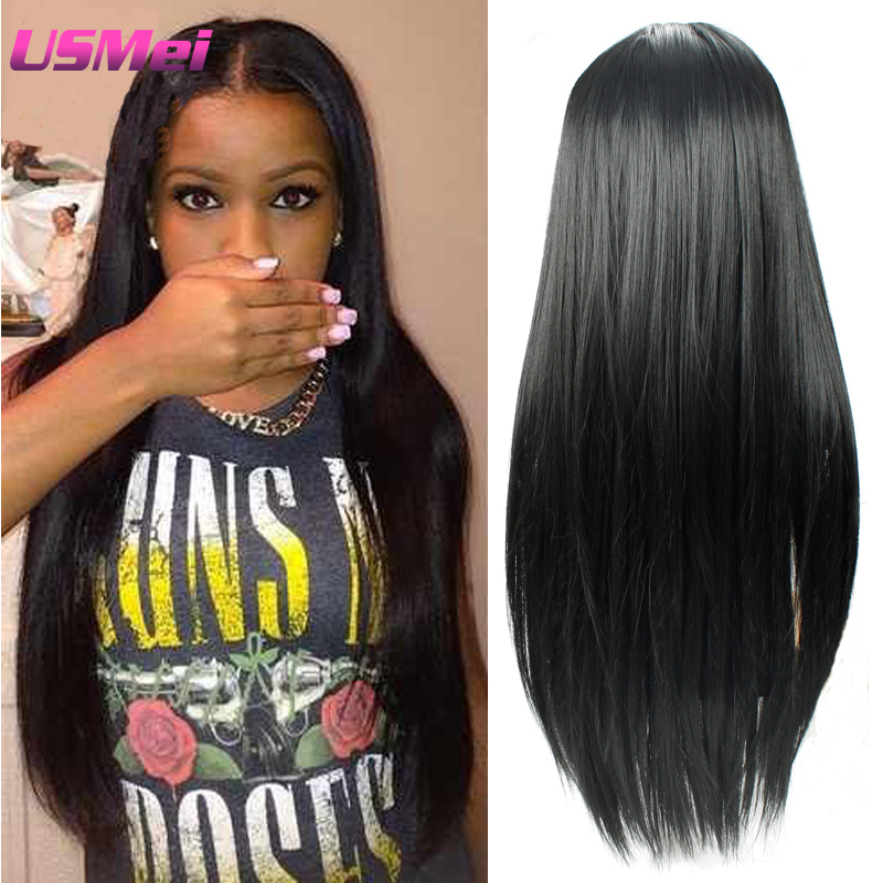 Micro Braided Wigs Long Straight Black Wigs Dreadlocks Wigs  Heat Resistant Hair Less Shiny Synthetic Fiber Cheap Cute Hair wigs<br><br>Aliexpress
