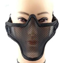 3 Colors Half Face Air Soft Mask War Game Military Sports Safety Metal Mesh Protective Tactical