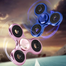 Cool Finger Spinner Toys 3 Hole Metal Gyro Hand Fidget Spinner For Autism/ADHD Anxiety Stress Relief Focus Kid Adult Toys  YH-17