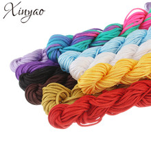 28m/lot 1.5mm Colored Nylon Rope Waxed Macrame Rattaill Thread Cord Fit Shamballa Bracelet Necklace Jewelry Accessories F1997