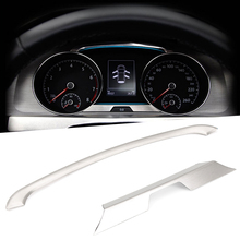 Car styling New 2 PCS/Set Auto Stainless Steel Panel Trim Decoration Fit For VW Volkswagen GOLF 7 MK7(China)