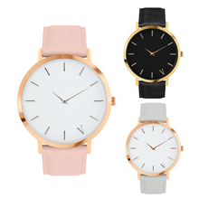 Ladies Fashion Quartz Watch Women Leather Casual Dress Women's watches Clock Rose Gold reloje mujer 2017 montre emme(China)