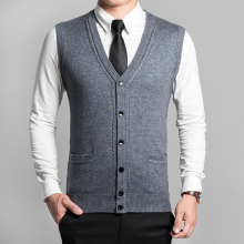 2016 New Arrival Autumn Clothing Cashmere Sweater Men Vests Wool Vest Knitted Mens Cardigans Sleeveless waistcoats