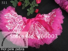 baby fluffy princess tutu pettiskirts pink zebra tutu skirt for girls petticoat