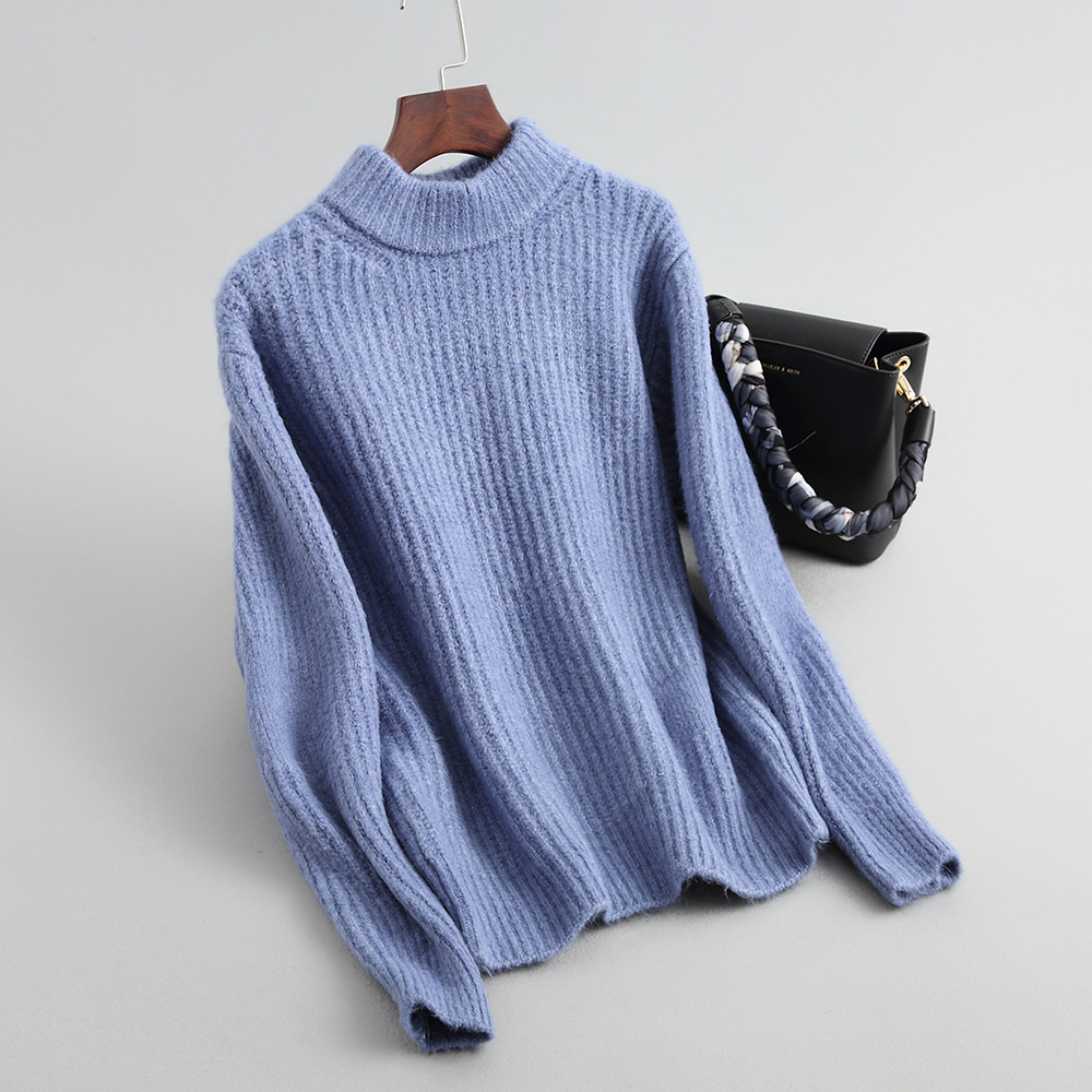 2018 Women Sweater And Pullovers Mohair Long Sleeve Women Sweater Thick Kintting Women Pullovers Sweater Femme Tricot Pull Femme