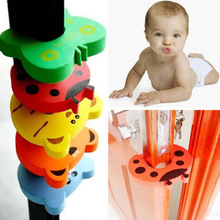 Child kids Baby Animal Cartoon Jammers Stop Door stopper holder lock Safety Guard Finger Protect 7colors