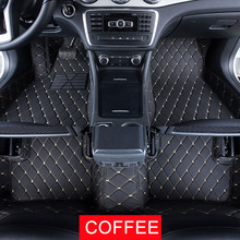 Car Floor Mats Case for Toyota Mark X Sienna  Customized Auto 3D Carpets Custom-fit Foot Liner Mat Car Rugs  Black Beige lines