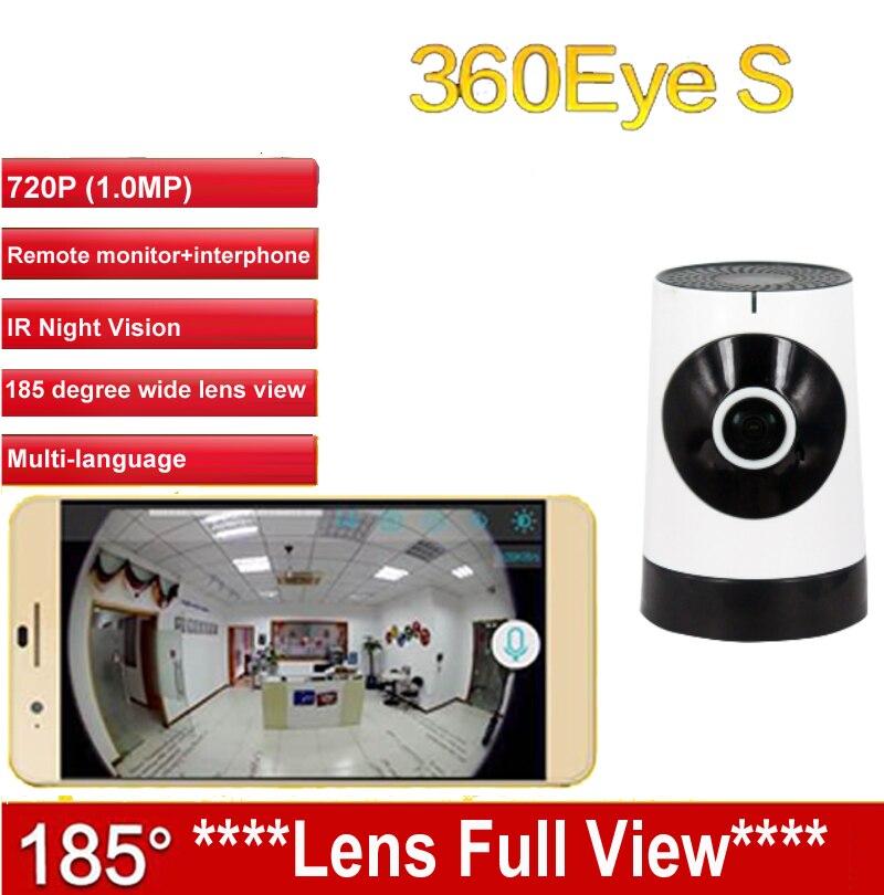 EC5 185degree lens Panoramic Camera 360eye S WiFi camera HD720P baby monitor Wireless IP camera Night Vision P2P IPC Camera<br>