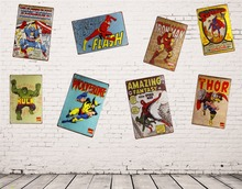 Metal/Tin signs Super Heros Art Vintage Metal Poster Bedroom Pub Home Decor Craft Wall Painting