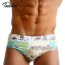 Taddlee Brand New Sexy Mens Swimwear Swimsuits Swim Brazilian Classi Cut Surfing Board Trunks Shorts Gay Low Waist Swimming Wear(China)