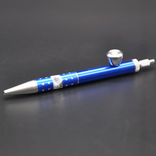 1 Ball-point Pen Pipe Metal Smoking Tobacco Pipe Aluminum Smoke Accessory Cleaner Tools Secret Pipe