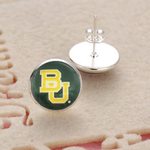 New High Quality Sports Team NCAA Baylor Charms Glass 3Style Stud/Pendant Earrings Travel Accessories(China)