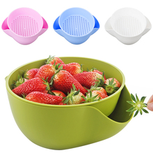 Bowl with Shell Storage Double Serving Dish Fruits Nuts Snack Tray Holder Kitchen Bowl for Cherry Candies Draining