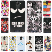 "BQ UPlus Painted Grid Style Case For coque BQ U Plus Case Cover BQ U Plus Aquaris Soft Silicone funda BQ Aquaris U Plus 5""+Gift"