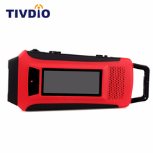 Tivdio Digital Emergency Solar Hand Crank FM/AM/NOAA Weather Radio with LED Flashlight & Phone Charger 10K Y4411C