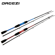 DAGEZI 1.8M Casting Fishing Rod lure fishing rod M Power Fast Action Carbon Baitcasting wheel Rod blue/red Lure Rod pesca(China)