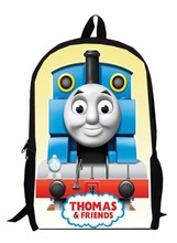 15inch little trains Backpack double layer custom made anime primary School train Kids Cartoon men bags
