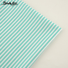 Booksew New Home Textile Cotton Twill Fabric Green Strips Design Soft Quilting Cloth Tecido For Bed Sheet Baby Beding Dolls