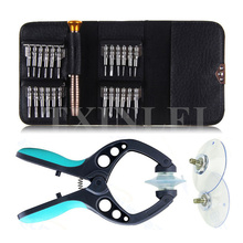 26 in 1 Smart Mobile Phone LCD Screen Opening Repair Tools Screwdriver Plier Dismantle Tools Set Kit For iPhone Samsung Watch PC(China)