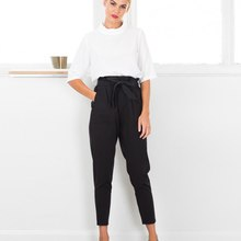 Chiffon high waist harem pants Women stringyselvedge summer style casual pants female  New black trousers Plus size RT5