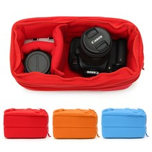2017 New Arrival Padded Shockproof DSLR SLR Camera Video Insert Bag Polyester Protect Case Pouches For Canon For Nikon For Sony(China)