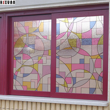 decor window privacy film sunscreen paper 45x100cm Abstract graphics printing No glue static window stickers Hsxuan brand 452022(China)