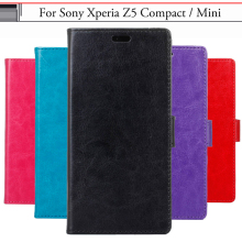 EiiMoo Case Sony Xperia Z5 Compact Mini E5803 E5823 Funda Wallet Flip Leather Cover Phone - Eason Family store