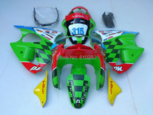 Motorcycle Fairing kit for KAWASAKI Ninja ZX6R 00 01 02 ZX6R 636 2000 2001 2002 Square red green Fairings set +7 gifts SL44